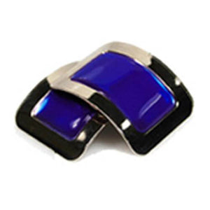 Colored Square Jig Shoe Buckles with Enamel Centres for Irish Dancers Blue Color CorrsIrishShoes.com