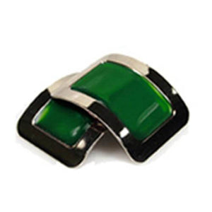 Colored Square Jig Shoe Buckles with Enamel Centres for Irish Dancers Green Color CorrsIrishShoes.com
