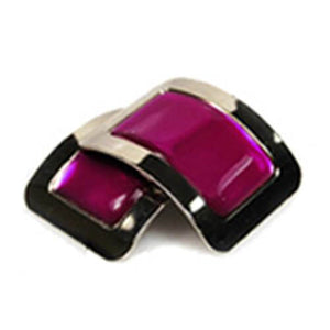 Colored Square Jig Shoe Buckles with Enamel Centres for Irish Dancers Pink Color CorrsIrishShoes.com