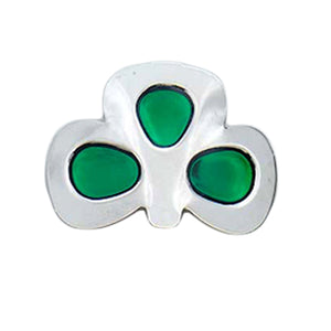 Heavy Dance Shoe Shamrock Buckles with Coloured Enamel Shamrock Leaves Green Color CorrsIrishShoes.com