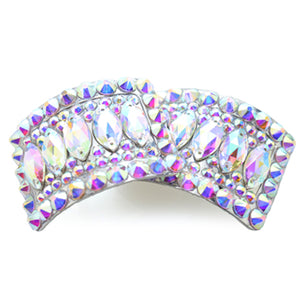 Rectangular AB Diamante Shoe Buckles with Crystal Navette Design CorrsIrishShoes.com