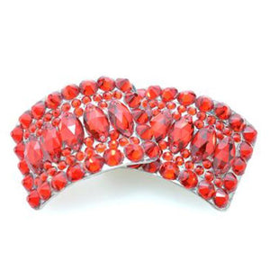 Red Navette Crystals Buckles for Dance Shoes Made in Ireland CorrsIrishShoes.com