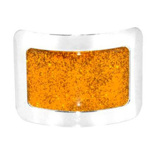 Shiny Dance Square Buckles for Jig Shoes with a Glittering Orange Design CorrsIrisShoes.com