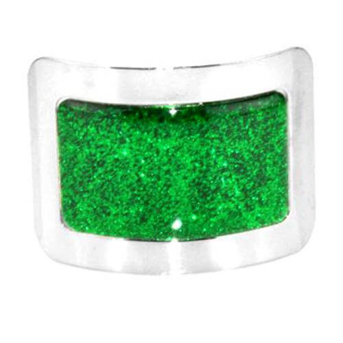 Sparkle Irish Dance Shoe Square Buckles with a Glowing Green Designed Center CorrsIrishShoes.com
