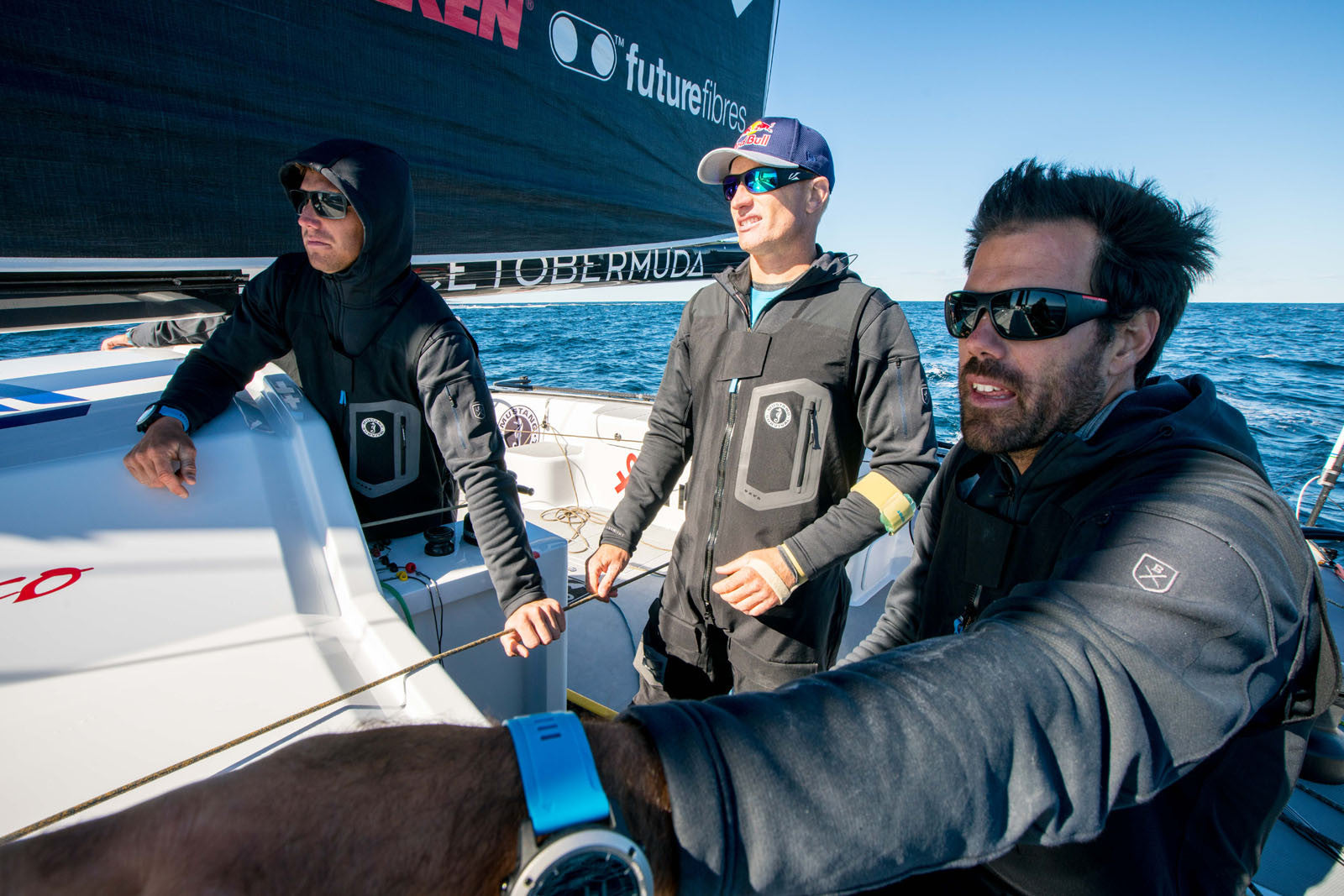 Jimmy Spithill and Shannon Falcone Kula Windpro Hoodie by Bluesmiths Sailing