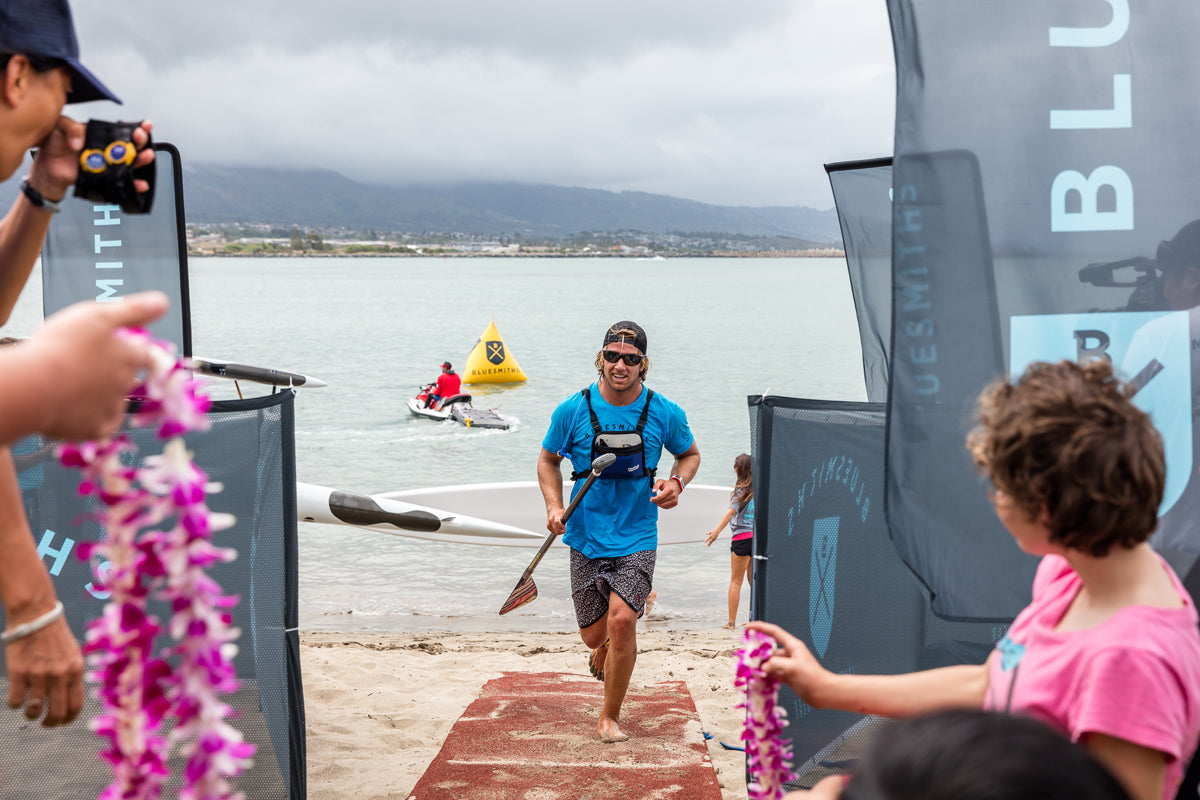 James Casey wins Men's SUP Bluesmiths Paddle Imua 2016