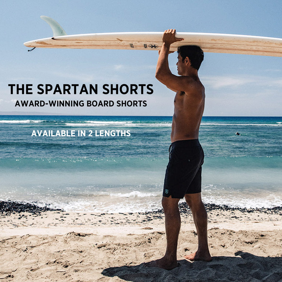 The Spartan Shorts - Award-Winning Board Shorts - Available in 2 Lengths