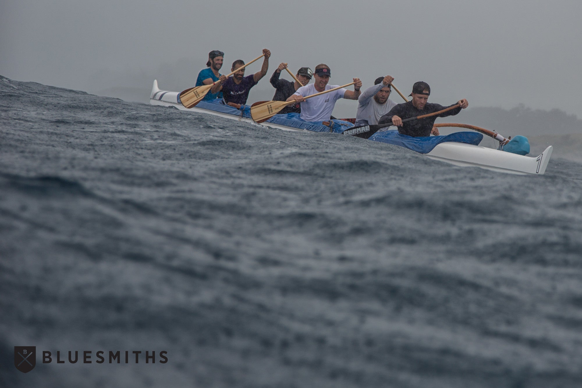 Outrigger Canoe Bluesmiths Paddle Imua Maui Hawaii