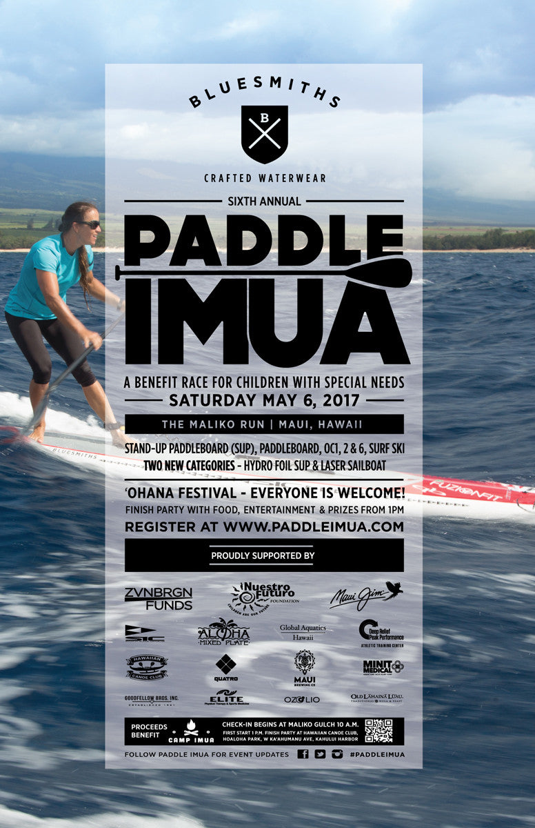 Bluesmiths Paddle Imua Maliko Run Poster 2017