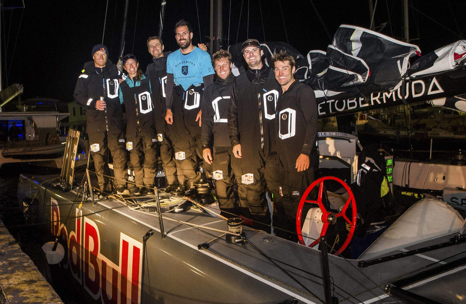Team Falcon: Bermuda Arrival of Spithill Falcone & Sailing Crew | Bluesmiths