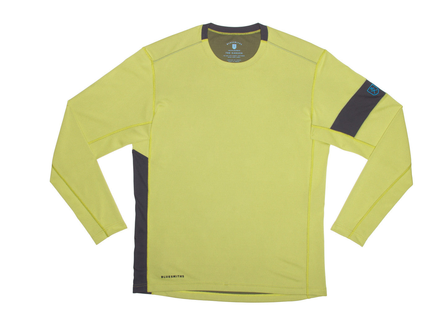 7ce47b5f ... The Kanaha Hydrophobic Shirt for Men in Lime Yellow (Rich Navy) - The  World's ...