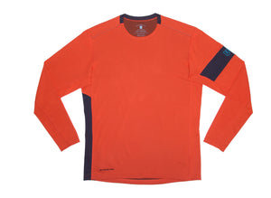 The Kanaha Hydrophobic Shirt for Men in Sunrise Orange (Rich Navy) - The World's Finest Waterwear | BLUESMITHS