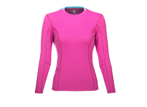 The Kanaha Hydrophobic Shirt for Women in Hibiscus Pink (Blue Atoll) - The World's Finest Waterwear | BLUESMITHS