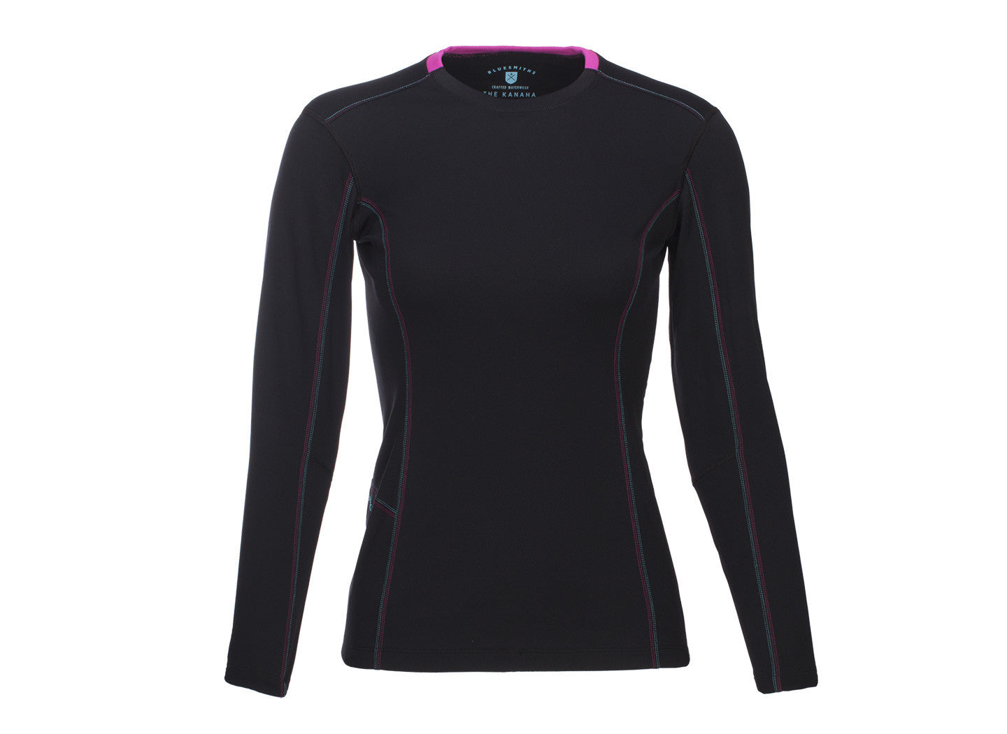 The Kanaha Hydrophobic Shirt for Women in Black (Hibiscus Pink) - The World's Finest Waterwear | BLUESMITHS