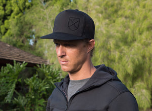 Embroidered Shield Trucker Cap