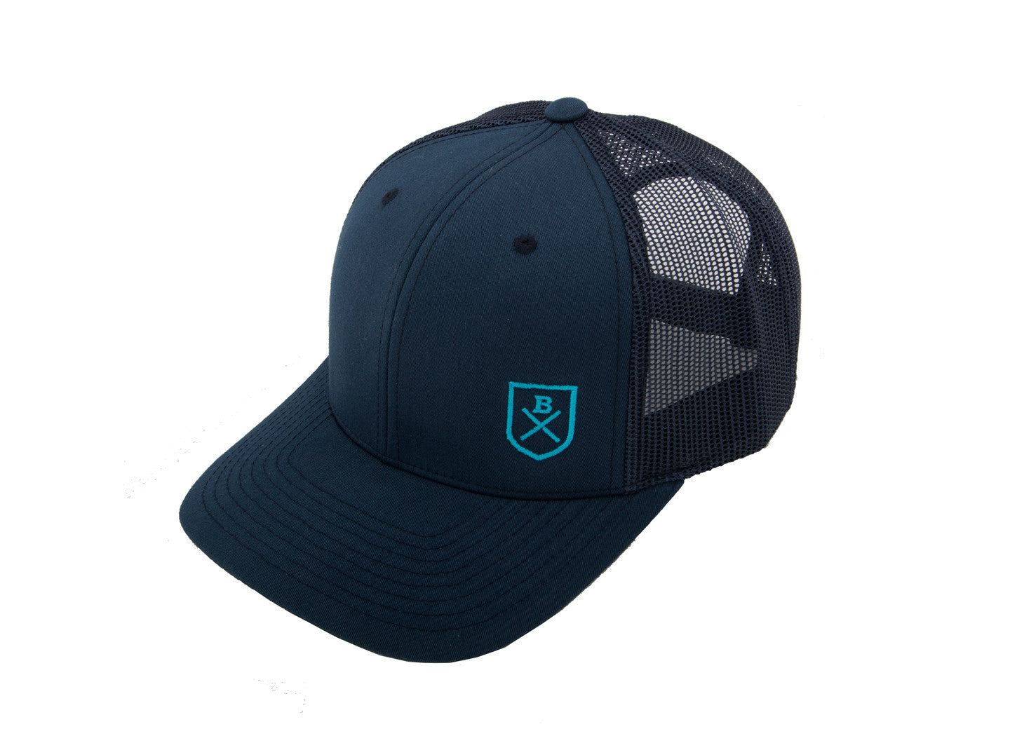 ... Bluesmiths Classic Trucker Cap - Blue with Shield Logo ... 611a6cf1d64