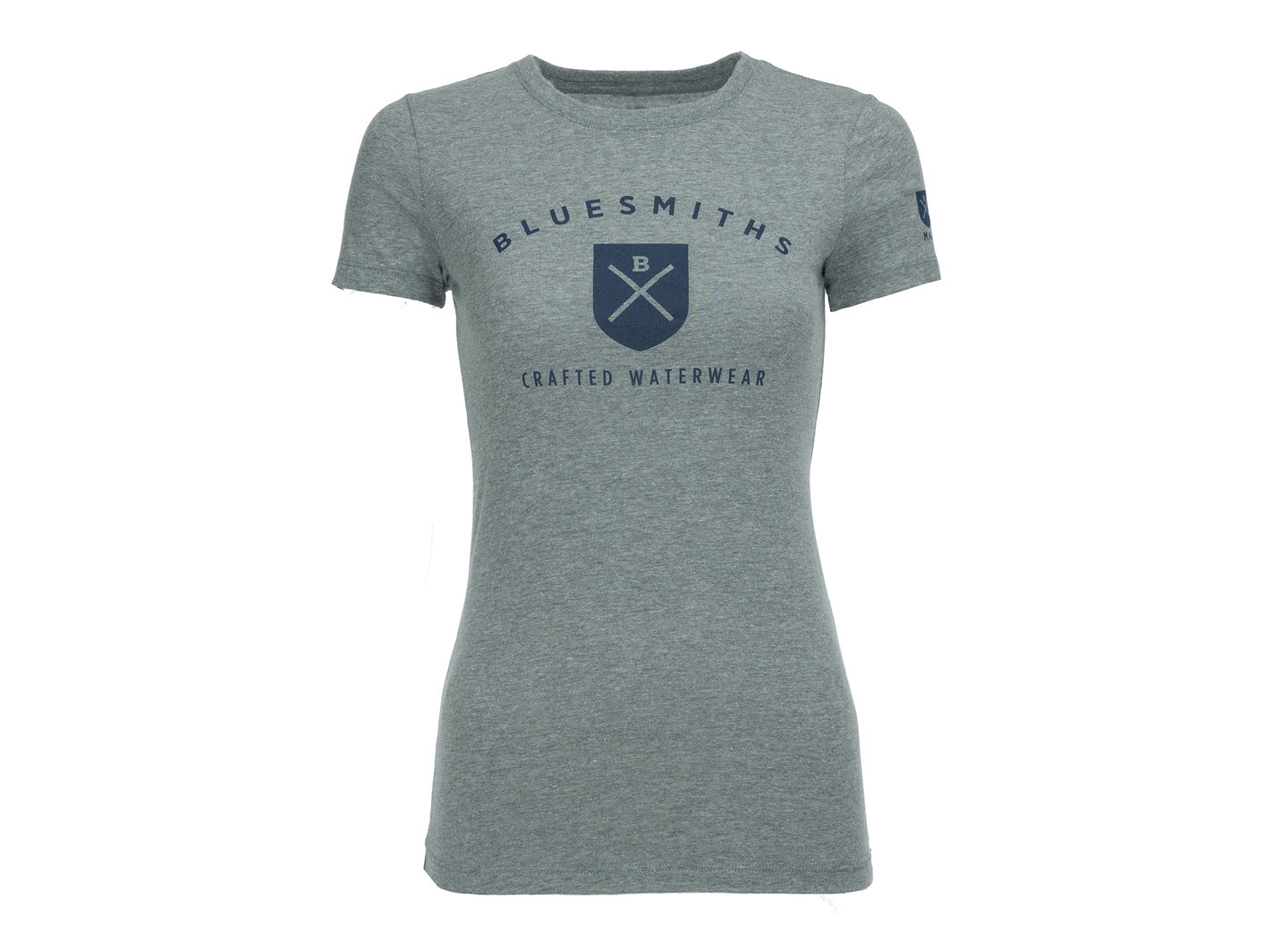 Bluesmiths Crafted Waterwear Logo Tee Shirt for Women - Heather Grey