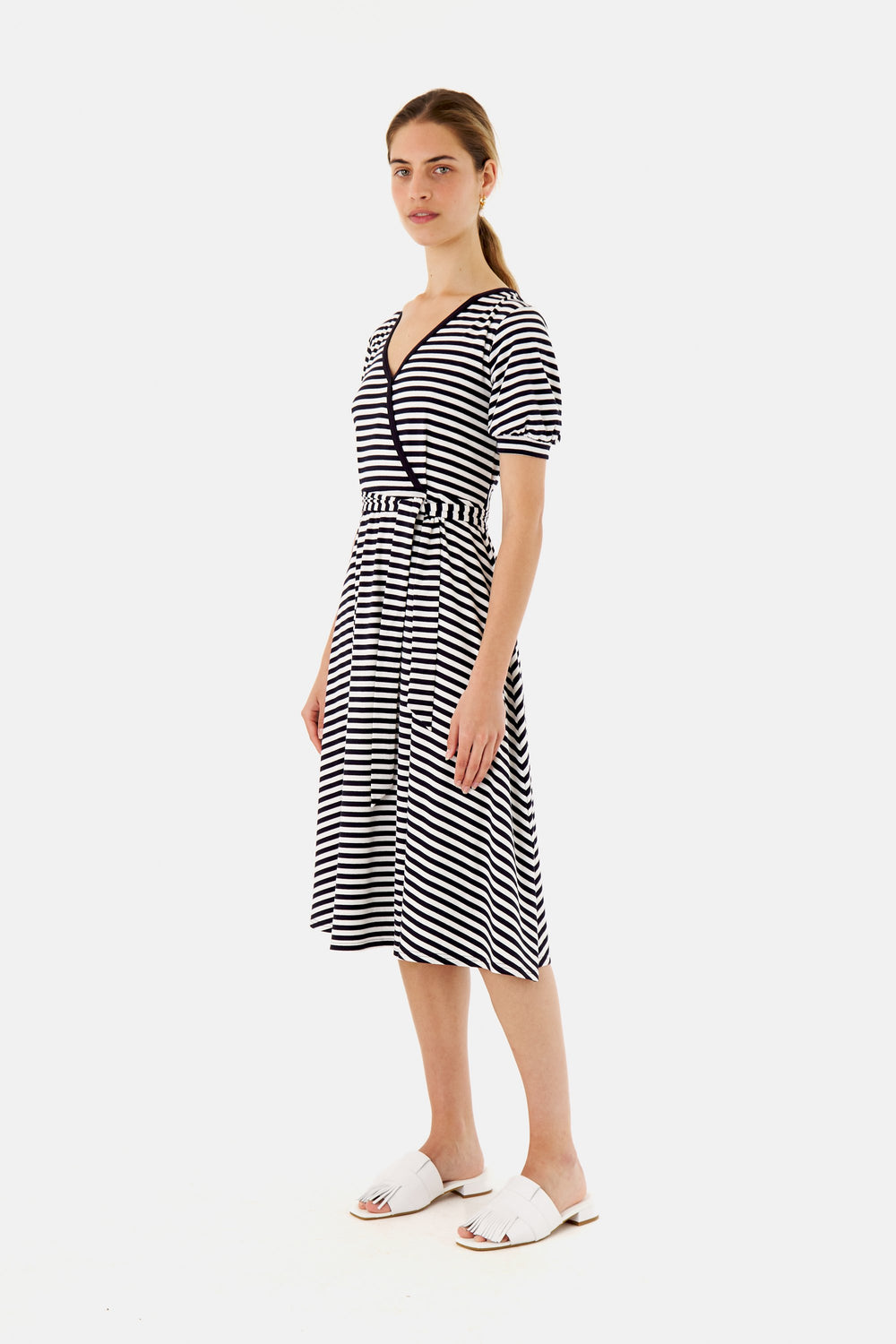 Stripey V-Neckdress