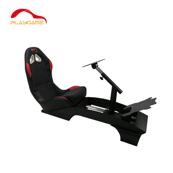 PlayGame GY-046 Racing Simulator Reclinable Black PVC Leather Seat