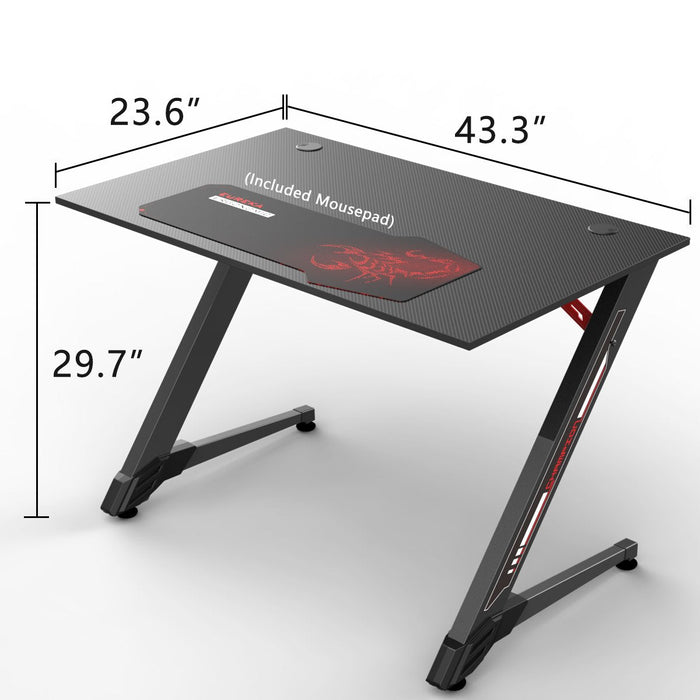 Eureka Ergonomic 43-in Small Gaming Computer Desk