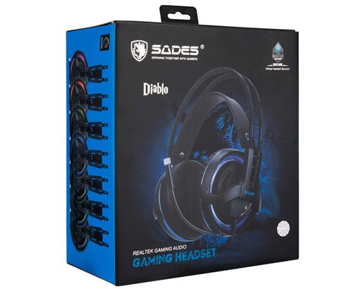 SADES Diablo SA-916 Professional Gaming Headset With Realteck gaming audio and RGB Light