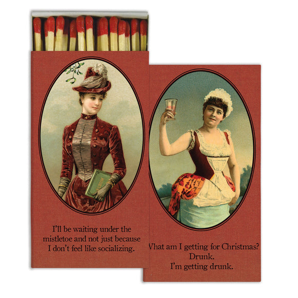 Victorian Woman Xmas Matches