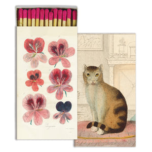 Calm Cat & Flowers Matches