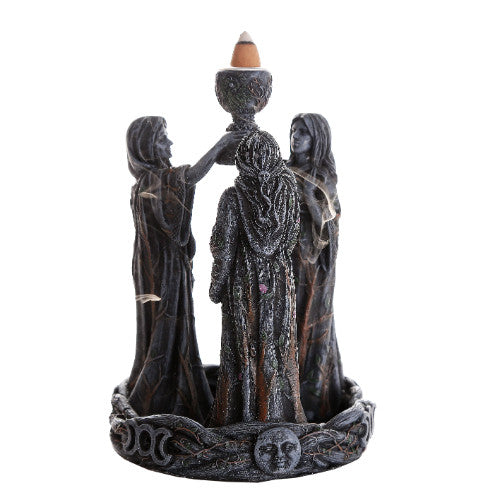 Mother Maiden Crone Backflow Incense Burner