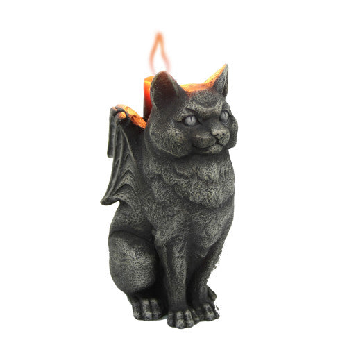 Winged Cat Candle Holder