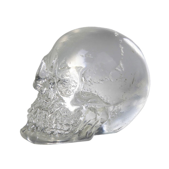 Clear Mini Resin Skull