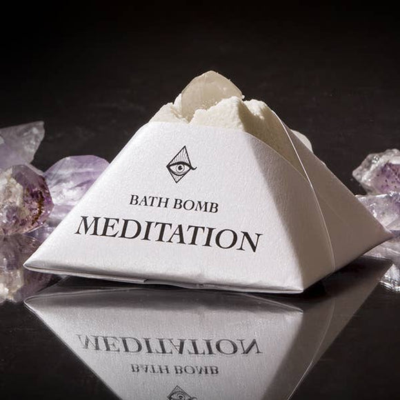 Meditation Pyramid Crystal Bath Bomb