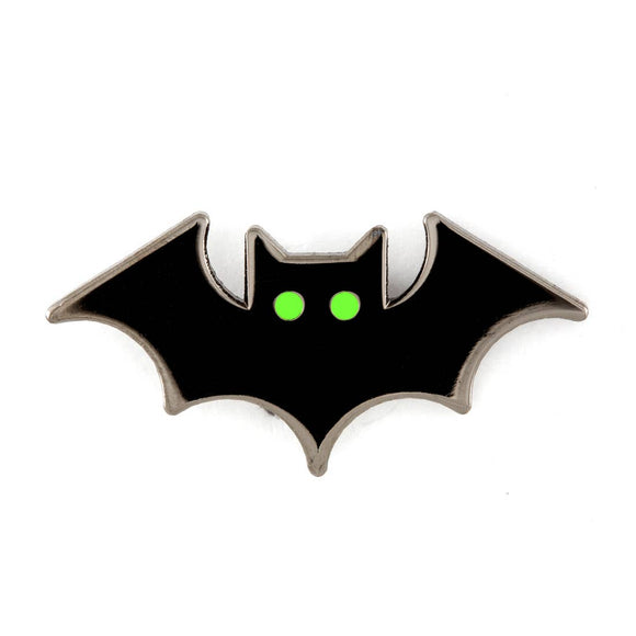 Bat Glowing Eyes Enamel Pin