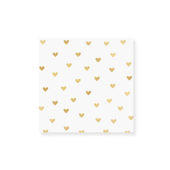 Hearts of Gold Foil Matches