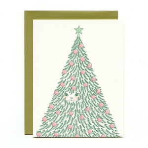 Xmas Tree Cat Gift Card Box Set