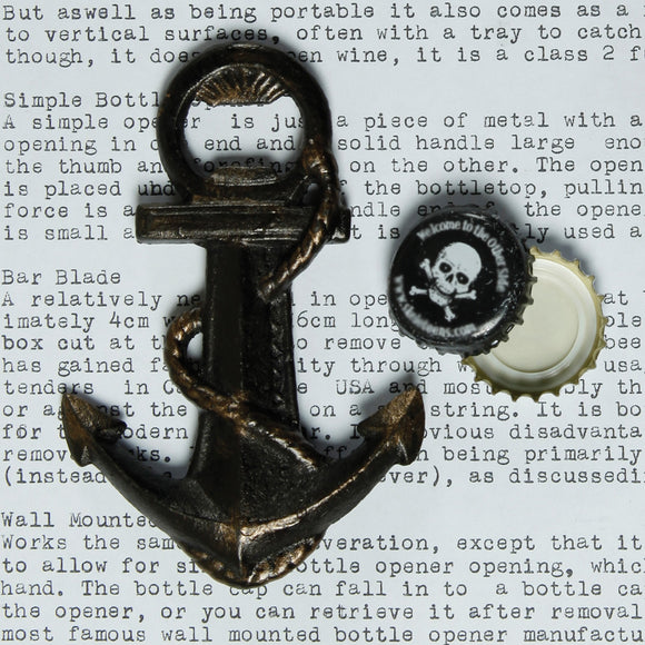 Cast Iron Anchor Bottle Opener