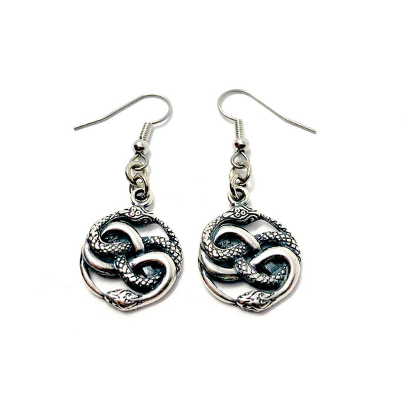 Auryn Twin Snake Earrings - Sterling Silver