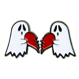 Ghost Heart Enamel Pin Set