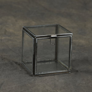 Square Leaded Glass Trinket Box