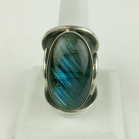 Sterling Horus Labradorite Ring