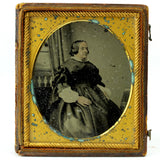 Victorian Copper Framed Woman Tintype Half Case