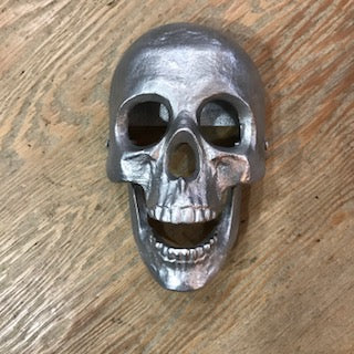 Aluminum Silver Skull Door Knocker