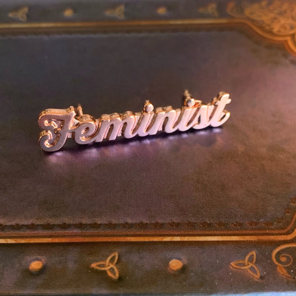 Feminist Rose Gold Pin