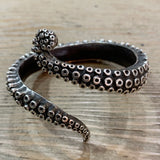 Sterling Octopus Tentacle Cuff