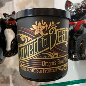 Loved To Death Custom { Black Vanilla Dragon } Soy Candle Large