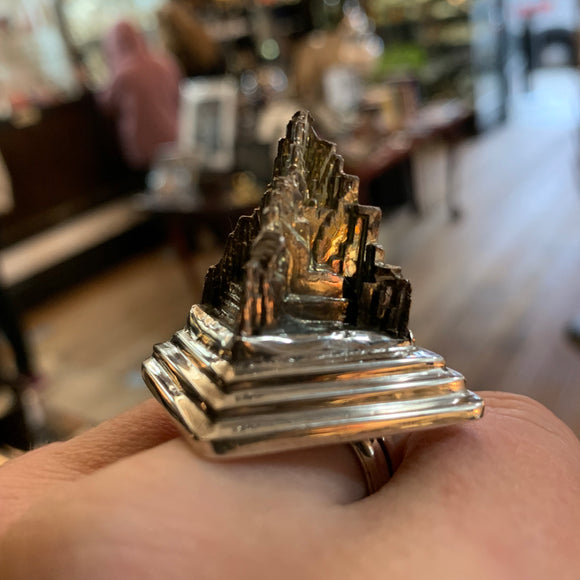 Sterling Bismuth Stupa Ring