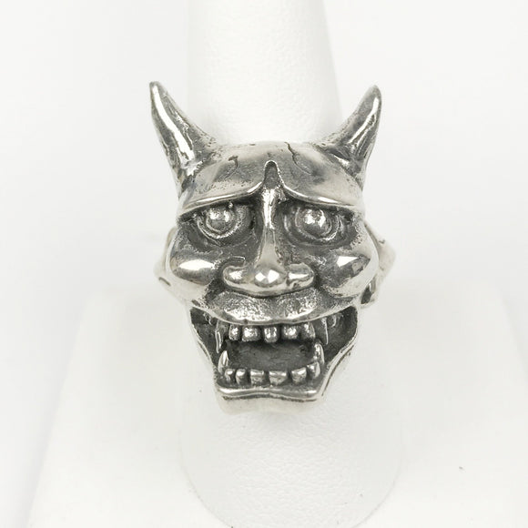 Hannya Mask Sterling Ring