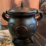 Black Cast Iron Triple Moon Cauldron 3""