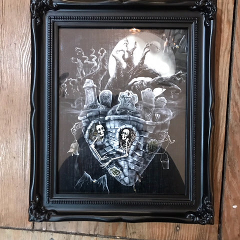 { Never To Part } Ransom & Mitchell Framed Signed Metallic Print