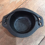 Black Cast Iron Mini Cauldron 3""