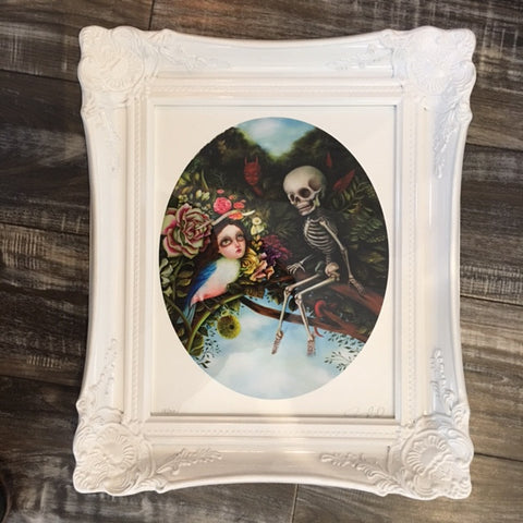{ Death and the Maiden } Jennybird Alcantara Giclee Print Framed Numbered and Signed